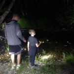 Night time flashlight hike at Tenaya Lodge