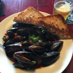 Mussels with Bison Sausage were amazing! Great desserts as well