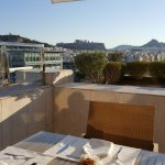 Balcony Breakfast view of the Parthenon from 8th floor Concierge Level
