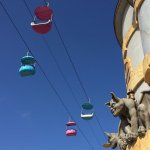 The sky ride and gargoyle