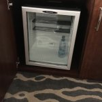 Small fridge, free water from the front desk