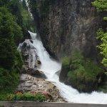 Beautiful waterfall on the walk into town