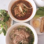 Yummy Pho! Beef Rice Noodle (bottom) & Spicy Beef Noodle (top)