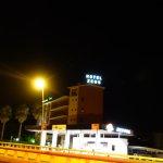 Vista hotel de noche