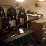 display of uniforms in Heritage Gallery