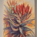 Great aloe painting in the dining area