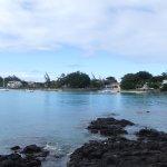 Côté droit de la plage