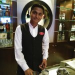 Mr. Manish at the Toxic bar.