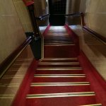 The stairs in the hotel