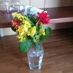 Cute flowers on the table in the room