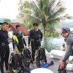 Latihan sebelum diving di Laut sebenarnya