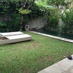 our private garden and pool