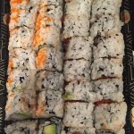 Great California roll and spicy tuna roll Personal opinion best sushi at the Beach!