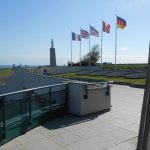 Looking from Arromanches 360 promenade towards memorial