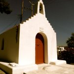 Chapel, one of hundreds on the island, adjoining Andronikos Hotel