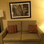 couch in front of suite