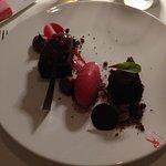 Chocolate and Raspberries dessert