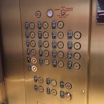 Elevator is small but charming!