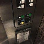 filthy elevator...yuck!