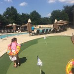Putting green by the pool