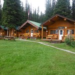 The main lodge and some of the individual cabins.
