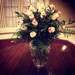 Fresh beautiful roses everywhere.