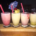 Lava flow samplers for our daughter-no alcohol