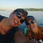 Very Happy SUP era'  Candace and Vanessa - Ambleside Park, West Vancouver