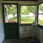 Towards porch door