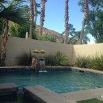 Our private pool in villa