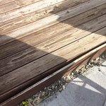 Broken decking