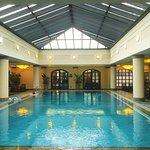 indoor pool + cafe + outdoor area