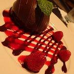 Chocolate mousse bombe - decadent!