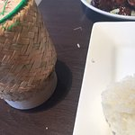 The food was very poor for thai restaurant. Sticky rice container full of old dry rice which ver