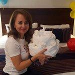 Nos sorprendieron con una decoración especial por el cumpleaños de MAGDALENA, mi esposa.