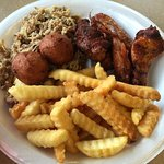 The food was great! Hot n tasty. Got the platter which is plenty for 2 people.  U might want to