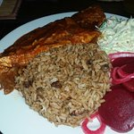 Day 1: Steamed fish with rice, beets and coleslaw
