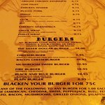 Menu from July 2016