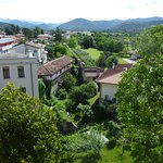 View from our room window of Cividale