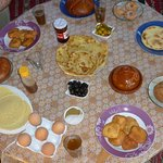 Post ride Moroccan breakfast