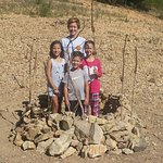 The kids made a rock fort on Dry Fork cove