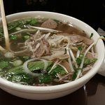 The beef pho was tasty