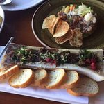 Roasted Bone Marrow w/Oxtail Marmalade & Plums (Forefront)