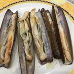 Grilled razor clams.