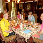 Guests enjoy breakfast in the Dining Room