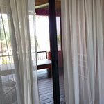 metal framed balcony doors keep mosquitoes out