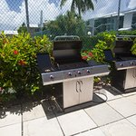 Community grills for the guests