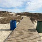 Walkway to the beach at Huntington