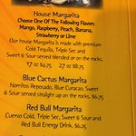 Margaritas menu