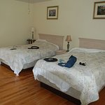 nice wood floors and spacious rooms and good bedding